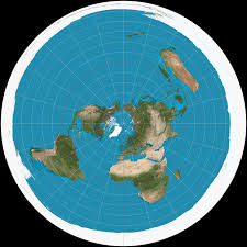 the flat earth with a wall of ice